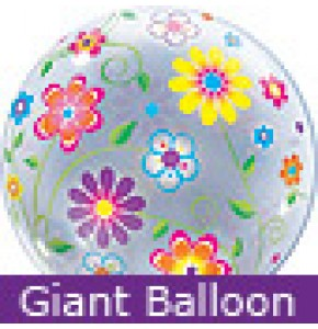 Large Flower Patterns Bubble Balloon