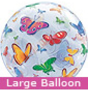 Large Butterflies Bubble Balloon