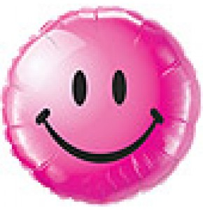 Smiley Face Balloon - Wild Berry