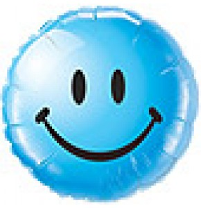 Smiley Face Balloon - Blue