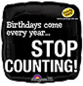 Stop Counting! Birthday Balloon
