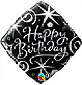 Elegant Sparkles Birthday Balloon