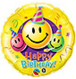 Smiley Faces Birthday Balloon