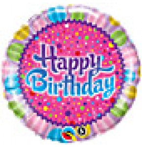 Birthday Sprinkles and Sparkles Balloon