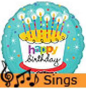 Jumbo Birthday Candles Singing Balloon