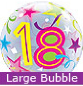Large 18th Birthday Brilliant Stars Balloon