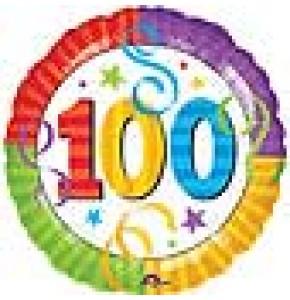 100th Birthday Helium Balloon