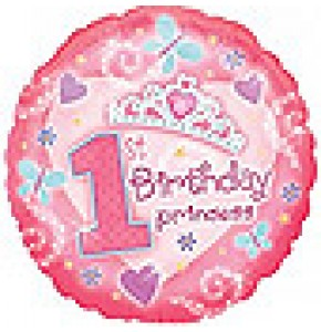 Princess First Birthday Balloon Gift
