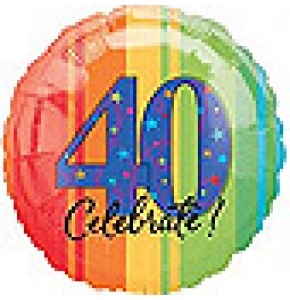 Celebrate 40th Birthday Balloon