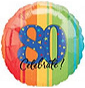 Celebrate 80th Birthday Balloon