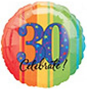 Celebrate 30th Birthday Balloon