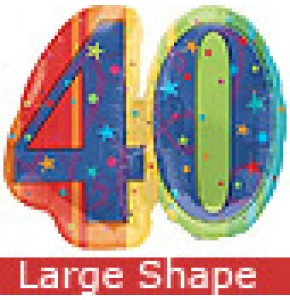 Large Celebrate 40th Birthday Balloon