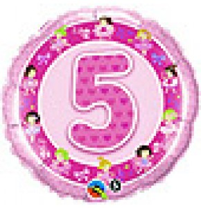 5th Birthday Pink Ballerinas Balloon
