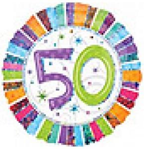 Radiant 50th Birthday Balloon
