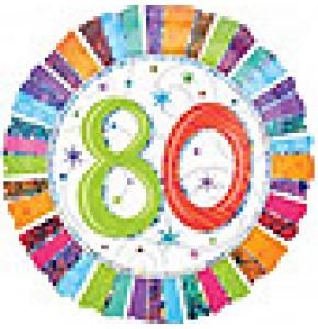 Radiant 80th Birthday Balloon Gift