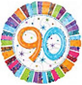 Radiant 90th Birthday Balloon