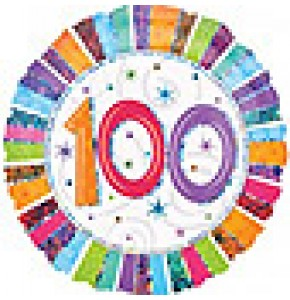 100th Radiant Birthday Balloon Gift