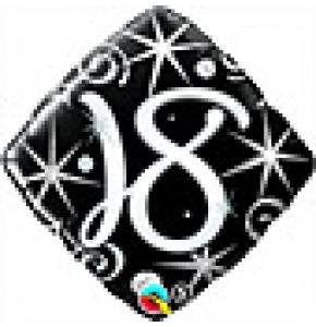 18 Elegant Sparkles Birthday Balloon