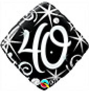 40 Elegant Sparkles Birthday Balloon