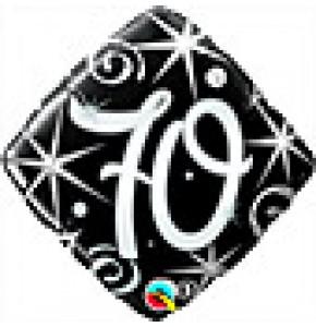 70 Elegant Sparkles Birthday Balloon