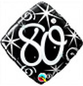 80 Elegant Sparkles Birthday Balloon