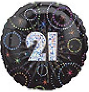 Time To Party 21st Birthday Balloon