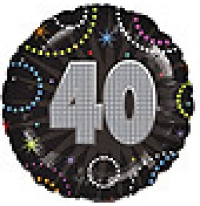 Time To Party 40th Birthday Balloon