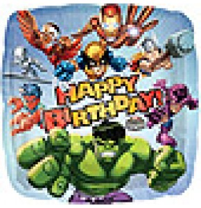 Marvel Super Heroes Birthday Balloon