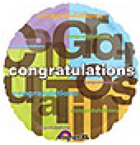Colourful Congratulations Balloon