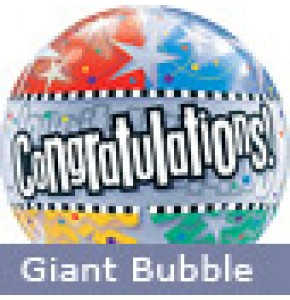 Large Congratulations Stars Helium Balloon
