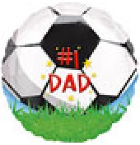 #1 Dad Football Helium Balloon