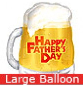 Large Father's Day Beer Mug Balloon