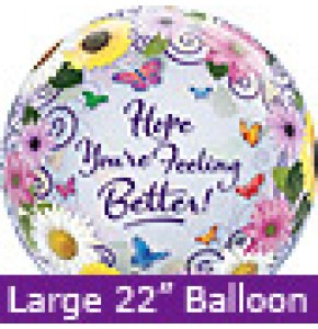 Large Feel Better Butterfly Garden Balloon