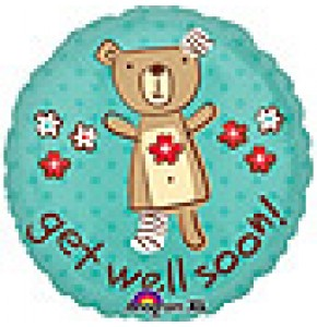 Get Well Bear Balloon Gift