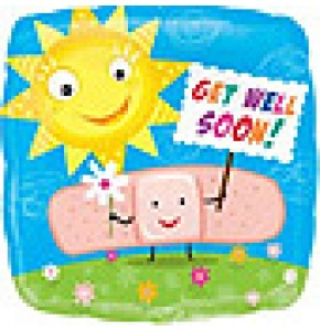 Get Well Soon Band-Aid Balloon