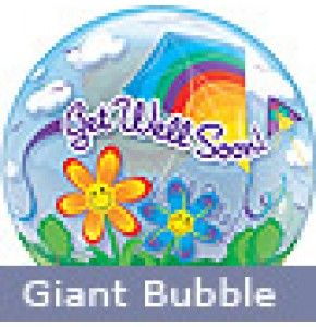Large Get Well Kites Balloon