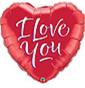 I Love You Script Modern Balloon