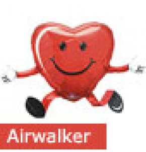 Heart Shaped Smiley Face Airwalker Balloon