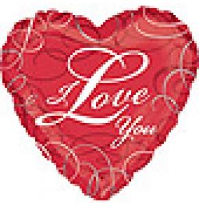 I Love You Swirls Balloon Gift