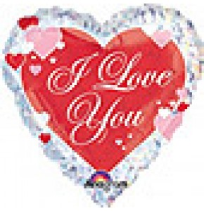 I Love You Script With Hearts Balloon