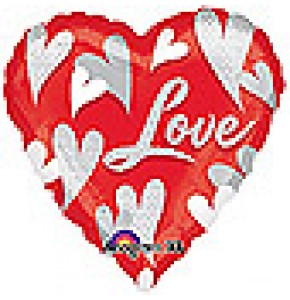 Swirl Hearts Love Balloon
