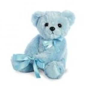 "New Baby Boy Blue Teddy (14"")"