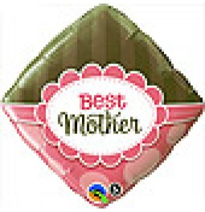Best Mother Pink and Brown Balloon