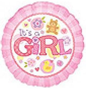 It's A Girl Balloon Gift