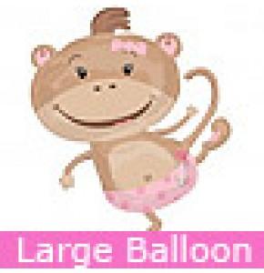 Monkey Girl Baby Balloon