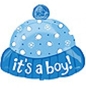 It's a Baby Boy Hat Balloon
