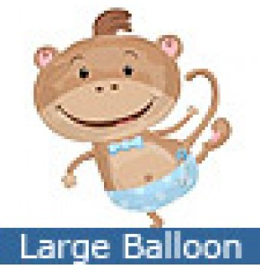 Monkey Boy Baby Balloon