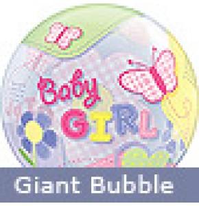 Baby Girl Butterflies Balloon Gift