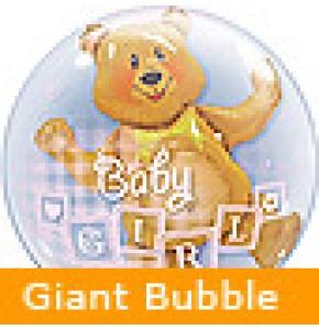 Baby Girl Bear Balloon Gift
