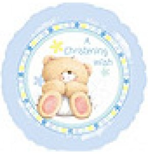Forever Friends Blue Christening Balloon